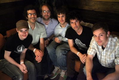 The band backstage at the Bell House