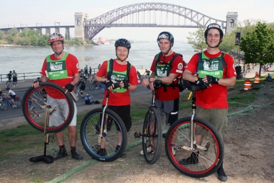 Unicycling the 5 Boroughs